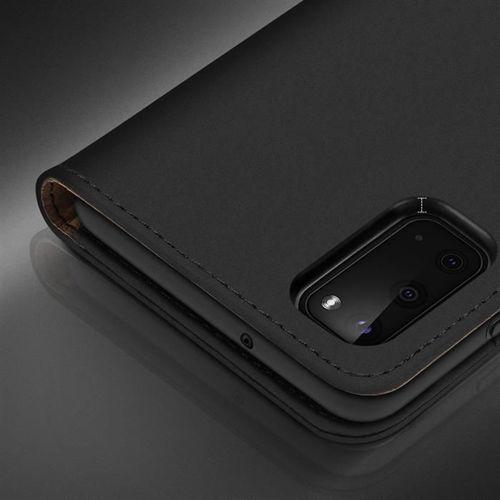 DUX DUCIS Wish skórzane etui pokrowiec ze skóry naturalnej Samsung Galaxy S20 czerwony