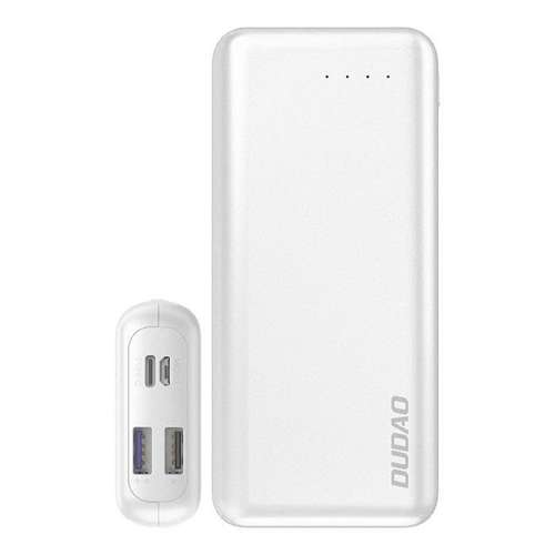 Dudao 2x USB power bank 20000mAh Power Delivery Quick Charge 4.0 3,7A 45W biały (K12PRO white)