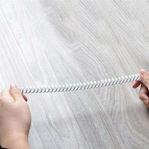 Dudao długi rozciągliwy kabel AUX mini jack 3.5mm sprężyna 150cm biały (L12 white)