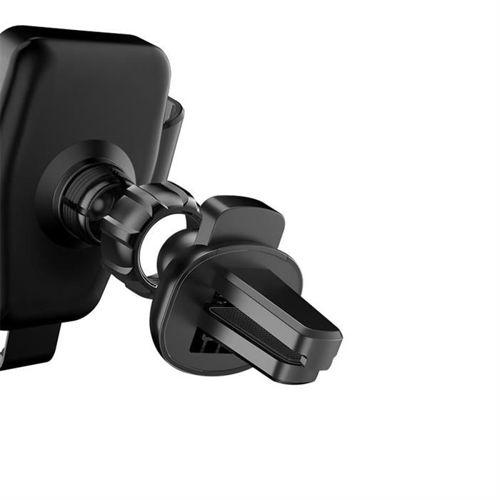 Dudao grawitacyjny uchwyt samochodowy na kratkę wentylacyjną bezprzewodowa ładowarka Qi 10W czarny (F3Plus black)