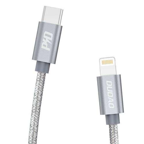Dudao kabel przewód USB Typ C - Lightning Power Delivery 45W 1m szary (L5Pro grey)