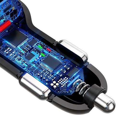 Dudao ładowarka samochodowa szybkie ładowanie Quick Charge 3.0 QC3.0 2.4A 18W 3x USB biały (R7S white)