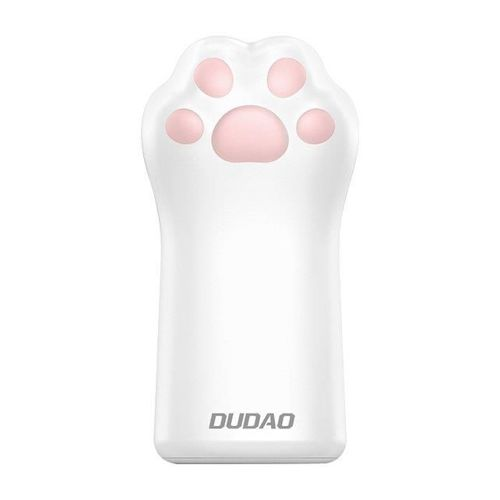 Dudao power bank 5000mAh 1A kotek kocia łapa łapka biały (K5S white)