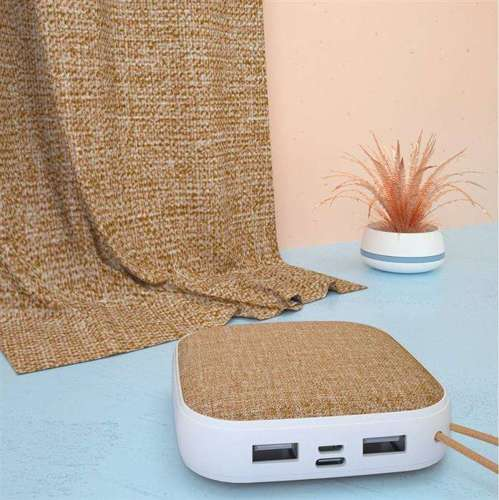 Dudao power bank ładowarka 10000mAh 2x USB 2A brązowy (K6A brown)