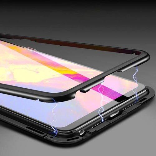 Etui 360 MAGNETIC Xiaomi Redmi 8A czarny +szkło 5D