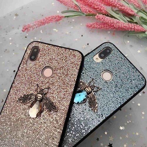 Etui Bee Glitter HUAWEI MATE 20 LITE niebieskie