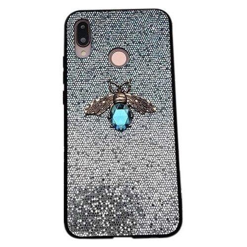 Etui Bee Glitter SAMSUNG GALAXY A40 niebieskie