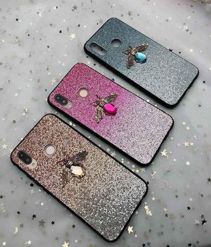Etui Bee Glitter SAMSUNG GALAXY S8 niebieskie