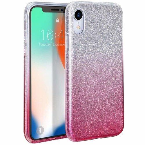 Etui Brokat Glitter XIAOMI REDMI 8A srebrno-różowe