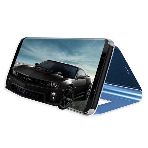 Etui Clear View Cover SAMSUNG A7 2018 niebieskie