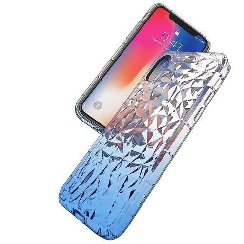 Etui Diamond Ombre HUAWEI  P20 LITE niebiesko-srebrne