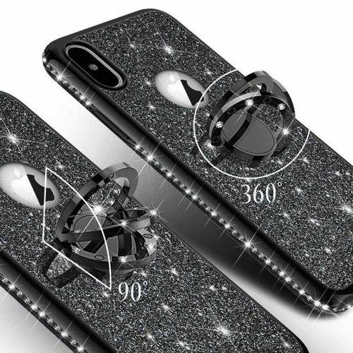 Etui Diamond Ring Glitter Brokat HUAWEI P20 LITE czarne