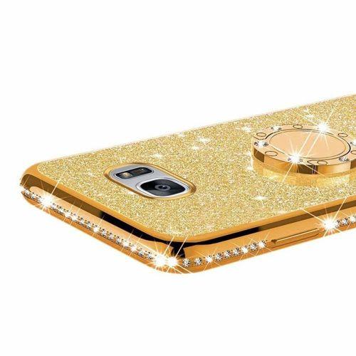Etui Diamond Ring Glitter Brokat SAMSUNG GALAXY S8 złote