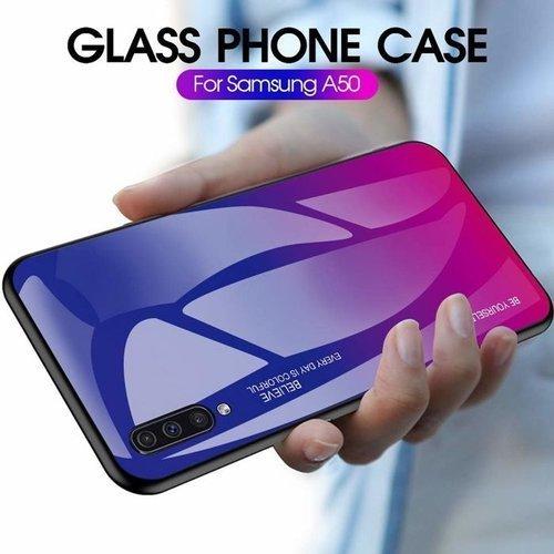Etui Glass SAMSUNG GALAXY A50 różowe