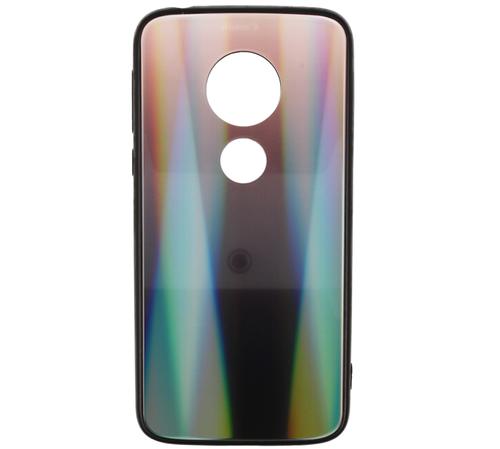 Etui Glass case Rainbow MOTOROLA MOTO G7 PLAY brązowo-czarne