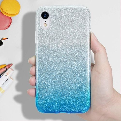Etui Glitter NOKIA 4.2 srebrno-niebieskie