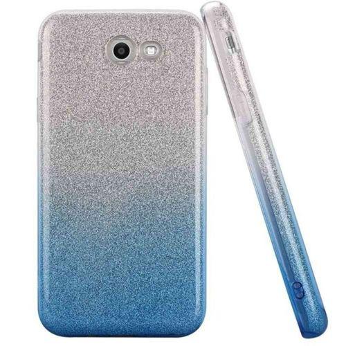 Etui Glitter SAMSUNG NOTE 8 srebrno niebieskie