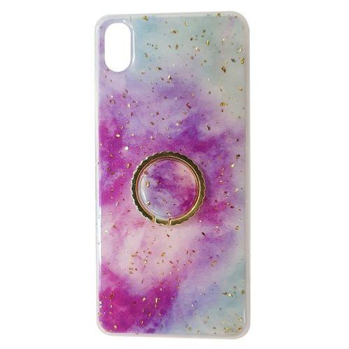 Etui IPHONE 7 / 8 Marble Ring fioletowo-niebieskie