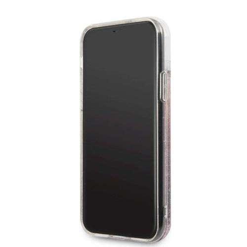 Etui Karl Lagerfeld KLHCN61TRKSRG iPhone 11 różowo-złoty/rose gold Glitter Signature