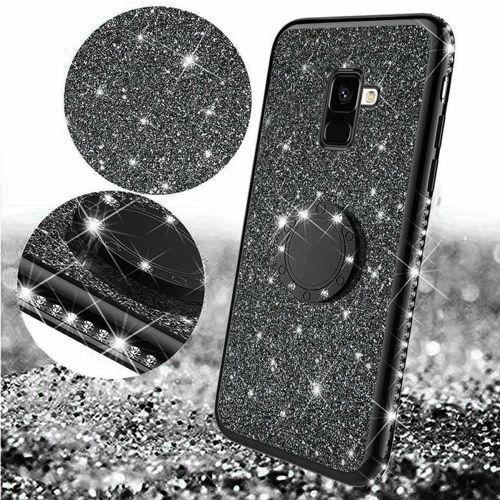 Etui MOTOROLA MOTO E6+ PLUS Diamond Ring Brokat czarne