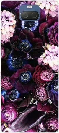 Etui ROAR JELLY purpurowa kompozycja kwiatowa na Sony Xperia 10