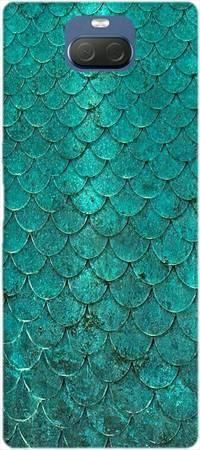 Etui ROAR JELLY turkusowa rybia łuska na Sony Xperia 10
