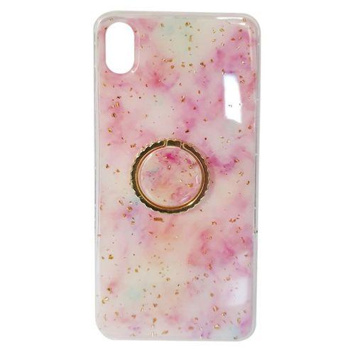 Etui SAMSUNG GALAXY A20E Marble Ring jasny róż