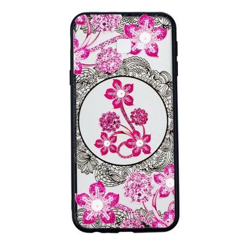 Etui Slim Art SAMSUNG J4+  J4 PLUS różowy kwiat
