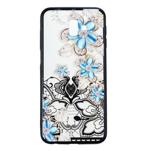 Etui Slim Art SAMSUNG J6+ J6 PLUS niebieski kwiat