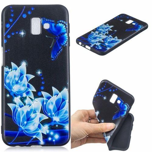 Etui Slim Art SAMSUNG J6+ J6 PLUS niebieski kwiat i motyl