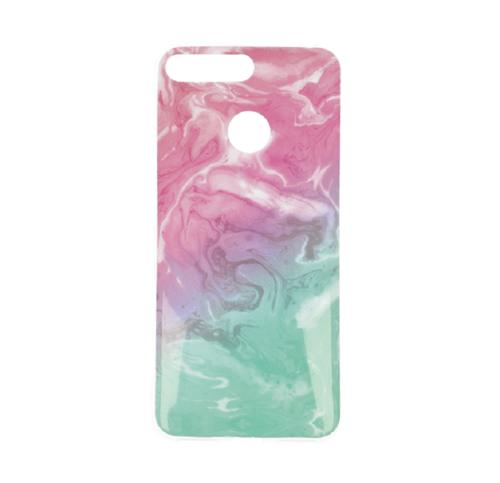 Etui Slim Case Art Huawei Y6 2018 różowy/ zielony