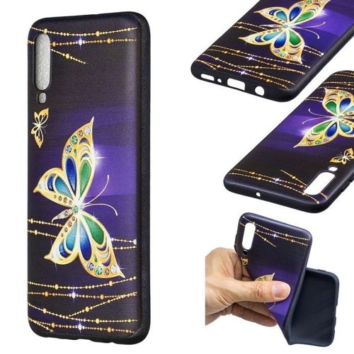 Etui Slim Case Art Samsung Galaxy A70 diamentowy motyl