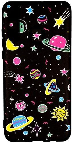 Etui Slim case Art SAMSUNG GALAXY J4+ J4 PLUS planety różowe