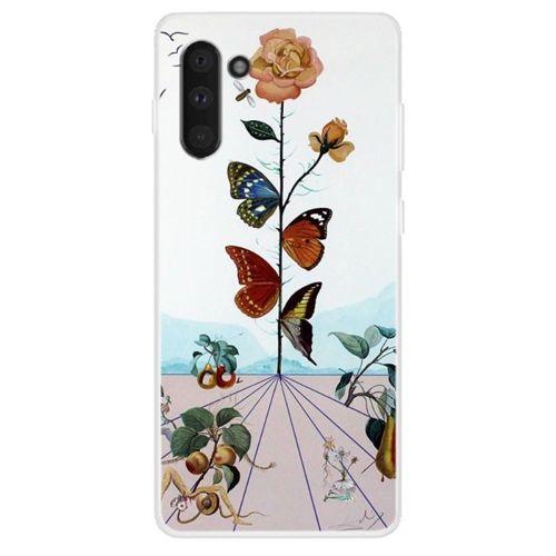 Etui Slim case Art Wzory SAMSUNG GALAXY NOTE 10 motyle i kwiat