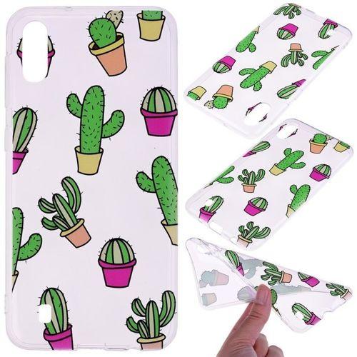 Etui Slim case Art wzory Samsung Galaxy A10 kaktus