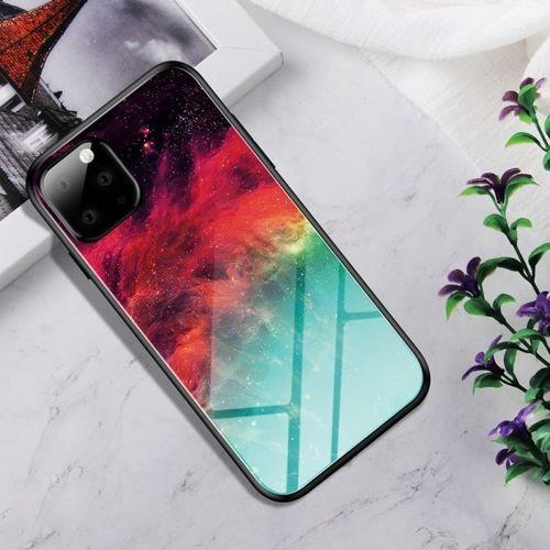 Etui Szklane Glass case Art IPHONE 11 kolorowa mgławica