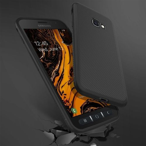 Etui Twill Texture SAMSUNG GALAXY XCOVER 4S / XCOVER 4 czarne