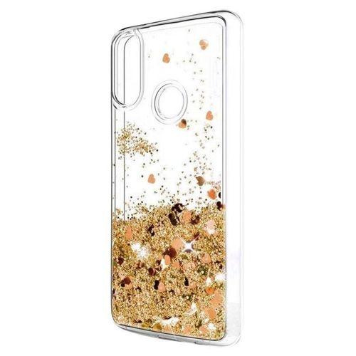 Etui XIAOMI REDMI 8 Liquid plecki brokatowe złote