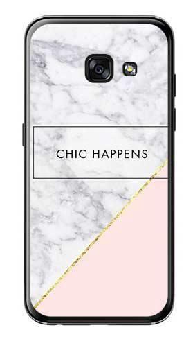 Etui dla dziewczyny chic happens na Samsung Galaxy A3 2017