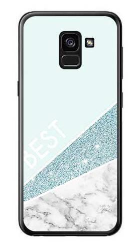 Etui dla przyjaciół friends glitter niebieski na Samsung Galaxy A7 2018