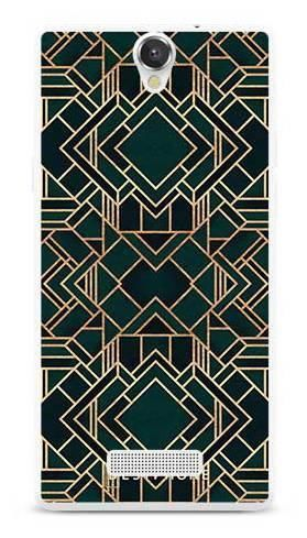 Etui geometria zielona na MyPhone Cube