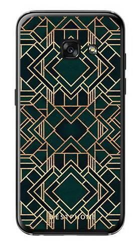 Etui geometria zielona na Samsung Galaxy A3 2017