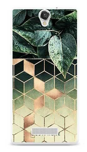 Etui geometryczna roślina na MyPhone Cube