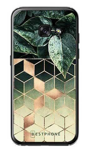 Etui geometryczna roślina na Samsung Galaxy A3 2017