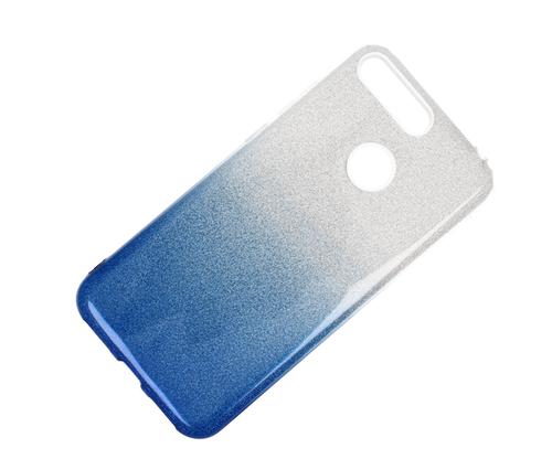 Etui glitter HUAWEI Y6 2018 niebieski