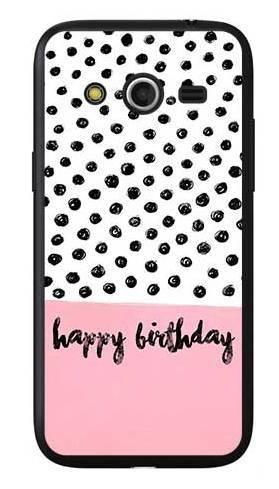 Etui na urodziny happy birthday kropki na Samsung Galaxy Core LTE