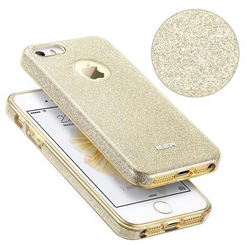 Etui pokrowiec ESR GLITTER SHINE IPHONE 5S/SE CHAMPAGNE GOLD