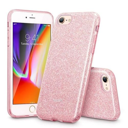 Etui pokrowiec ESR GLITTER SHINE IPHONE 7/8 ROSE GOLD