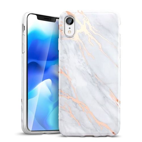 Etui pokrowiec ESR MARBLE IPHONE XR GREY/GOLD