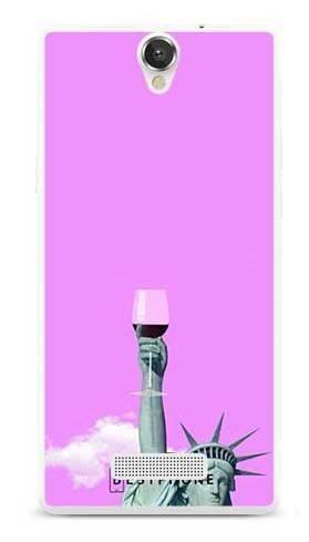 Etui posąg z winem na MyPhone Cube